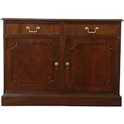 Traditional Mahogany Vintage 2 Drawer Credenza or Cabinet, Kittinger NY