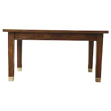 Arts & Crafts Mission Oak Antique Library Table Writing Desk, Minnesota