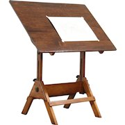 Drafting Table or Adjustable Vintage Artist Desk, Kitchen Island, Wine Table