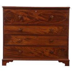 Butler Secretary Desk, Mahogany 1840 Antique Secret Compartments, England