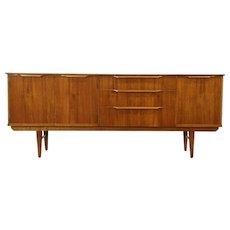 Midcentury Modern 1960's Teak Credenza, Bar, Sideboard, or TV Console Cabinet