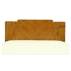Waterfall Design Art Deco 1935 Vintage Bed, Full or Double Size