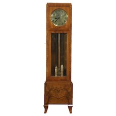 "Art Deco Antique Grandfather or Long Case Clock, ""Hawina"""