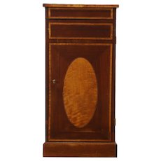 Music, File or Antique Collector Cabinet, Inlaid Mahogany, 8 Drawers, England
