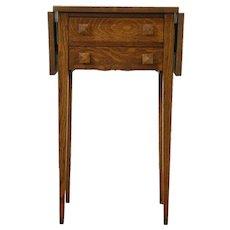 Arts & Crafts Mission Oak Antique Craftsman Dropleaf Table, Nightstand