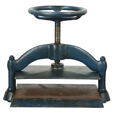 Cast Iron Antique 1900 Bookbinder Book Press