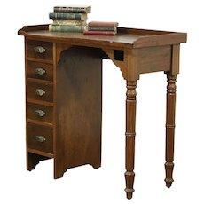 Victorian Antique 1890 Walnut Watchmaker Desk or Workbench Island