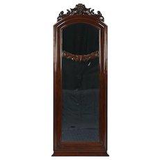 Mahogany Antique 1895 Mirror, Hand Carved Grapes, Denmark