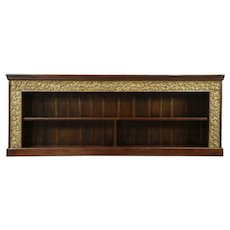 Counter, TV Console Cabinet, Bookcase or Backbar, Hand Carved Dutch East Indies