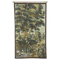 Renaissance Design Vintage Tapestry, Mountain Scene & Church, France #28487