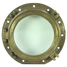 Brass Ship Porthole, Antique Nautical Salvage