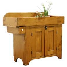 Country Pine Primitive 1860's Antique Kitchen Pantry Dry Sink Cupboard #28500
