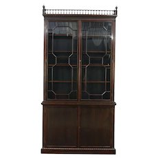 Rosewood Antique 1870 Library Bookcase, Adjustable Shelves, England