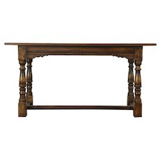 Oak Antique Desk, Library, Sofa, Dining or Writing Table, Jamestown Feudal