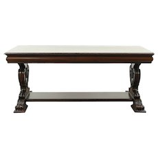 Classical Mahogany Antique Dining, Library or Conference Table, Writing Desk