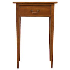 Hepplewhite Cherry 1790 Antique Nightstand, End or Lamp Table