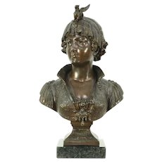 Bianca Sculpture, Antique Statue from Taming of the Shrew by Shakespeare