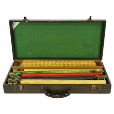 Mahjong 1930's Vintage Mah Jong Game Set & Case, Signed Lowe, NY
