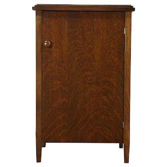 Oak Antique Phonograph Record Cabinet, Talking Machine Co, Chicago #28569