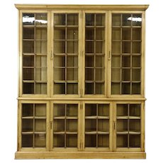 Country Pine Antique Bookcase or Pantry Cupboard, England #28572