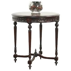 Mahogany Louis XVI Carved 1915 Antique Hall Center or Lamp Table #28602