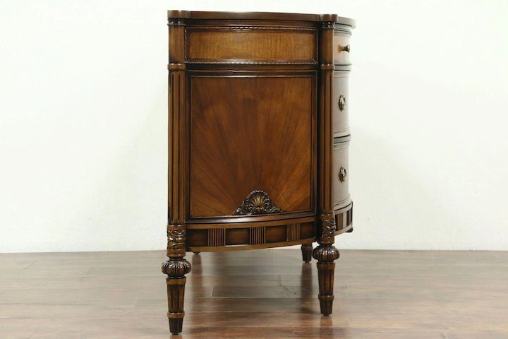 Demilune Half Round Vintage Hall Console Cabinet Or Chest Karges 28619