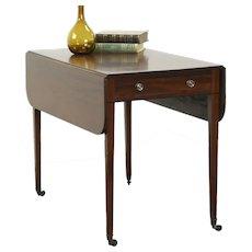 Georgian 1780 Antique Pembroke Dropleaf Breakfast, Sofa or Lamp Table #28621