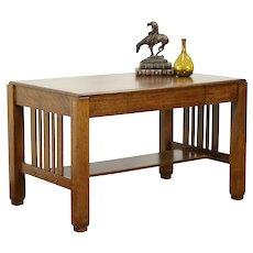 Arts & Crafts Mission Oak Antique Craftsman Library Table Desk Wolverine  #28683