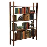 Arts & Crafts Mission Oak Antique Craftsman Library Bookshelf #28709