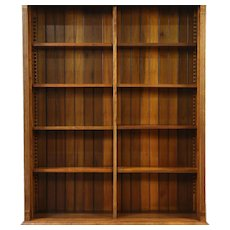 Library Antique 1890 Birch Bookcase, Raised Panels, Adjustable Shelves #28720