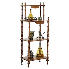 Victorian Antique Marquetry Curio Etagere Dessert or Music Stand #28729