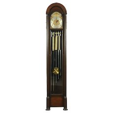 Grandmother Vintage Tall Case Clock, Westminster 5 Tube Chime, Colonial #28734