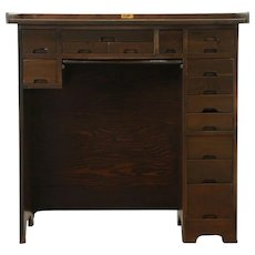 Watch & Clock Maker Vintage Work Bench or Desk, 15 Drawers #28758