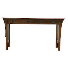 Arts & Crafts Hall or TV Console, Craftsman Sofa Table Signed Stickley  #28765
