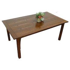 Craftsman Mission Oak Arts & Crafts Vintage Dining Table, Signed Stickley #28769