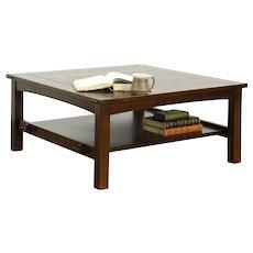 Craftsman Mission Oak Arts & Crafts Vintage Coffee Table, Signed Stickley #28778