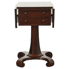 Empire  Mahogany Antique Dropleaf Nightstand or Lamp Table, Sewing Stand #28814