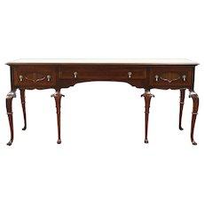 Carved Antique Banded Walnut Sideboard, Server or Buffet, Signed Tobey  #28823