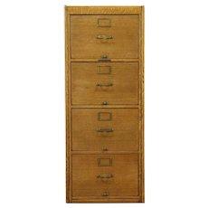 Oak 4 Drawer Antique 1920 Legal File Cabinet, Library Bureau  #28825