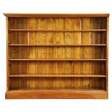 Library Antique 1890 Birch Bookcase, Raised Panels, Adjustable Shelves