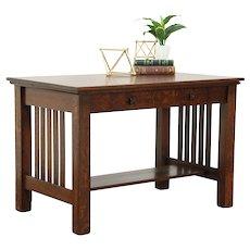 Arts & Crafts Mission Oak Antique Library Table Craftsman Writing Desk #28903