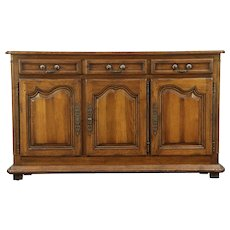 Country French Oak Sideboard, Server, Buffet or TV Console Cabinet #28926