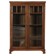 Arts & Crafts Mission Oak Antique Craftsman Library Bookcase #28931