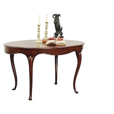Oval Victorian Antique Mahogany Hall Center, Lamp or Breakfast Table #28941