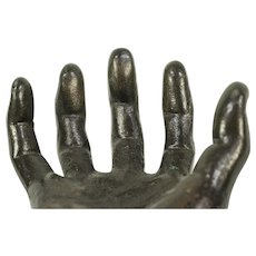 Hand Sculpture, Antique Cast Iron, Life Size #28963