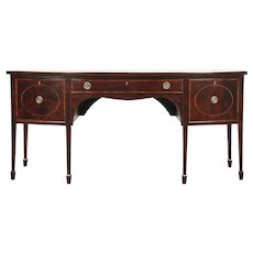 Hepplewhite 1790 Antique Mahogany Sideboard Server, Buffet, Wine Drawer #28984