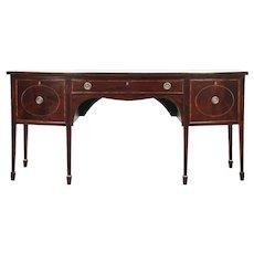 Hepplewhite 1790 Antique Mahogany Sideboard Server, Buffet, Wine Drawer #28984