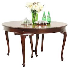 """Round 54"""" Traditional 1915 Antique Mahogany Dining Table #28989"""