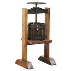Wine, Cider or Fruit Juice Press, Hocking Valley, Wine Cellar Antique #29001