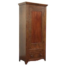Country Primitive Antique 1860's Armoire, Wardrobe or Closet, Ohio #29060